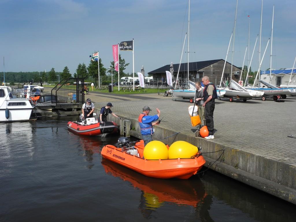 voorbereidingen in de haven